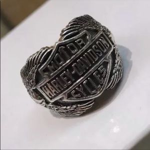 Men's Sterling Silver Harley Davidson Eagle Ring